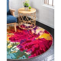 Unique Loom Apollo Barcelona Round Rug - 6' 0 x 6' 0
