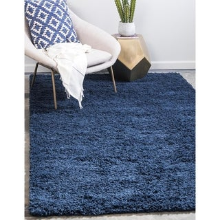 Unique Loom Solid Shag Area Rug - 5' x 8' (2 options available)