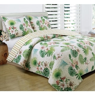 Panama Jack Tropical Beauty 3 piece Quilt Set