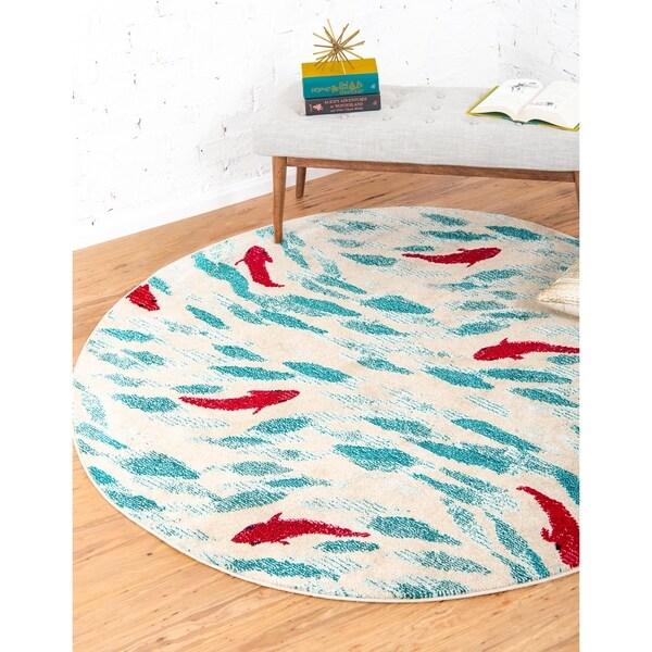 Unique Loom Shoal Capri Round Rug - 6' 0 x 6' 0