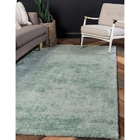 Solo Solid Pattern Frieze Area Rug (5' x 7'7)