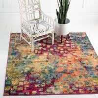 Unique Loom Ivy Barcelona Square Rug - 6' 0 x 6' 0