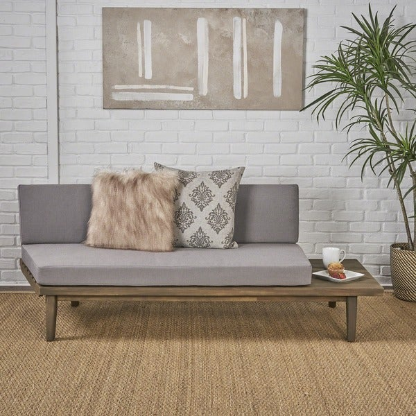 Eulah Minimalist Wood Fabric Right Sided Sofa By Christopher Knight Home