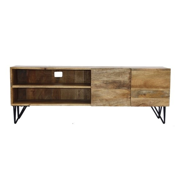 Shop The Urban Port Industrial Style Tv Stand With Storage Cabinet