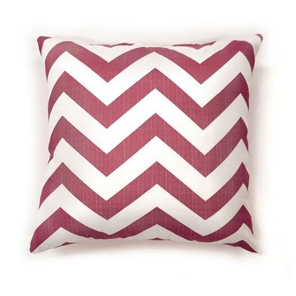 Zoe Contemporary Pillow, Red Chevron, Set of 2, Small