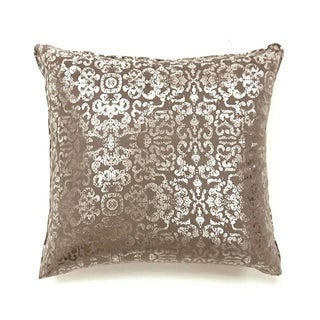 Lia Novelty Pillow, Brown & Silver, Set of 2, Large