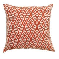 CICI Contemporary Big Pillow With pattern Fabric, Red , Set of 2