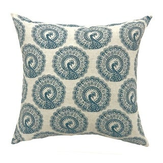 FIFI Contemporary Big Pillow Pattern Fabric, Blue & Ivory, Set of 2