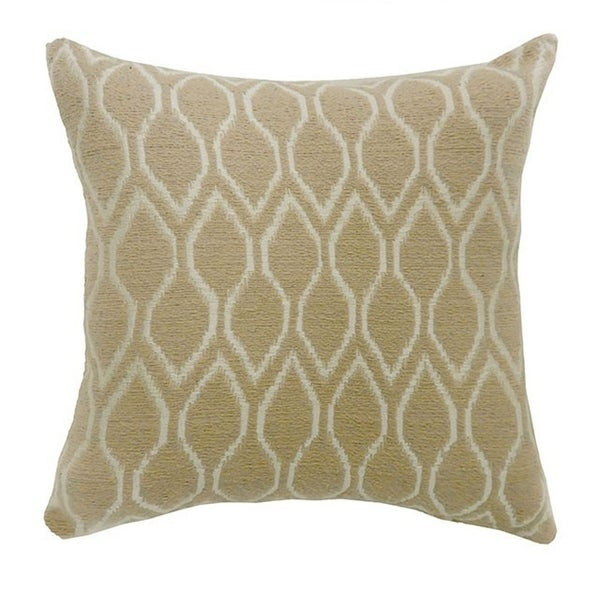 MAE Contemporary Big Pillow With fabric, Beige, Set of 2