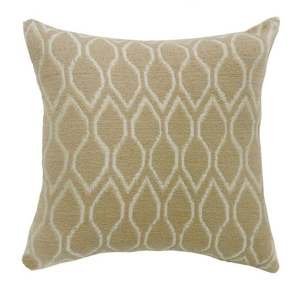 Mae Contemporary Big Pillow With Fabric Beige Set Of 2 On Sale Overstock 18189388