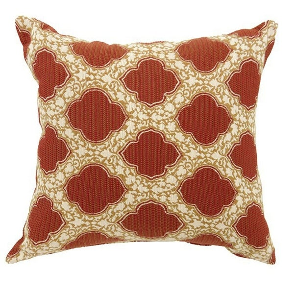 ROXY Contemporary Big Pillow With pattern Fabric, Red, Set of 2