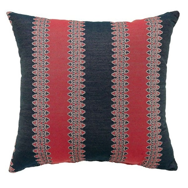LARA Contemporary Big Pillow With fabric, Red & Blue, Set of 2