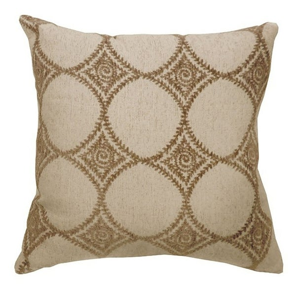 RIYA Contemporary Small Pillow With patterned fabric, Beige , Set of 2