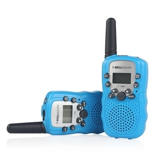 BELLSOUTH T388 2 Piece T-388 3-5KM 22 FRS and GMRS UHF Radio for Child Walkie-Talkie - Blue