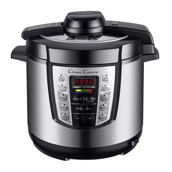 Multi-Cooker 6-qt. 4-in-1 Steamer and Pressure/Slow/Rice Cooker. Opens flyout.