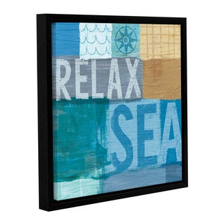 Michael Mullan's Beachscape Collage III, Gallery Wrapped Floater-framed Canvas