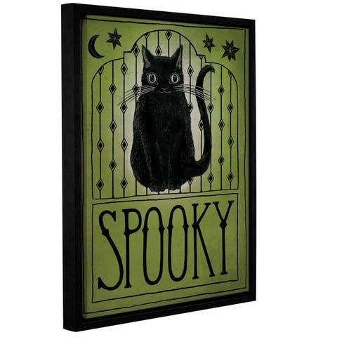 Sara Miller's Vintage Halloween Spooky, Gallery Wrapped Floater-framed Canvas