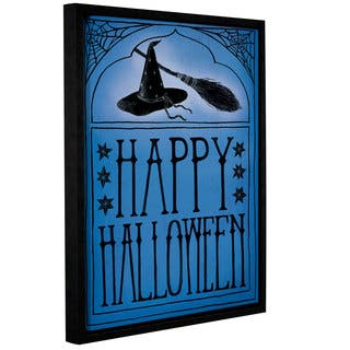 Sara Miller's Vintage Halloween Happy Halloween, Gallery Wrapped Floater-framed Canvas