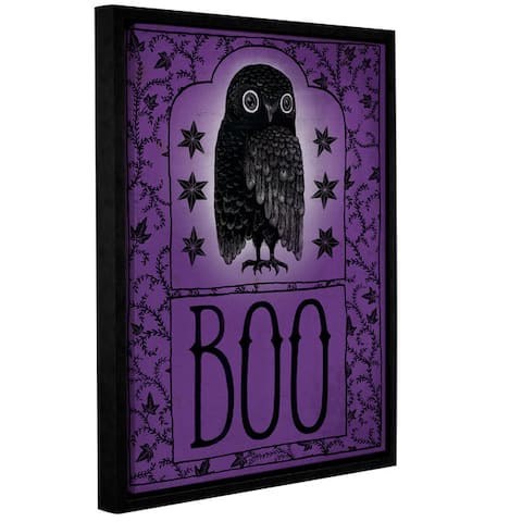 Sara Miller's Vintage Halloween Boo, Gallery Wrapped Floater-framed Canvas