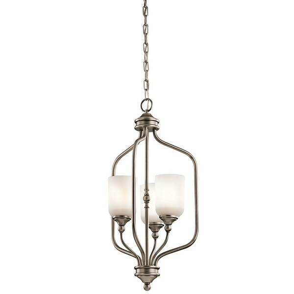 Kichler Lighting Lilah Collection 3-light Antique Pewter Foyer Pendant