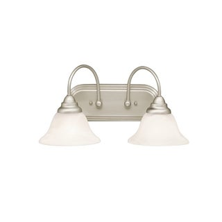 Kichler Lighting Telford Collection 2-light Brushed Nickel Fluorescent Bath/Vanity Light