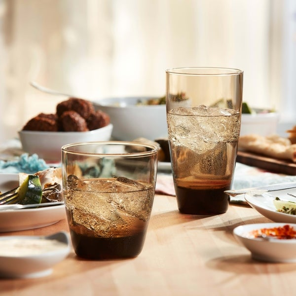 Libbey Classic Mocha 16-Piece Tumbler and Rocks Glass Set