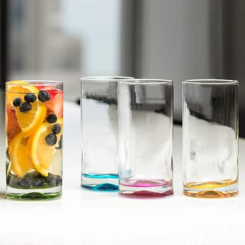 Libbey Impressions Colors Tumbler Glasses, Set of 4