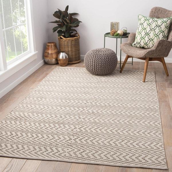 Dartmoor Handmade Geometric Gray/ White Area Rug - 2' x 3'