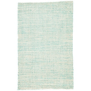 Havenside Home Bayview Natural Solid White/ Aqua Area Rug (2' x 3') - Thumbnail 0