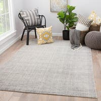 Lev Hand-Knotted Solid Light Gray Area Rug (2' X 3')