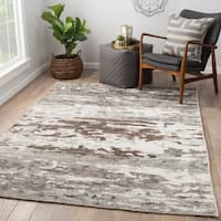 Thayer Hand-Knotted Abstract Gray/ White Area Rug