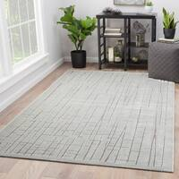 Eline Abstract Silver/ Grey Area Rug (2' x 3')