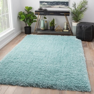 Orion Solid Blue Area Rug - 2' x 3'