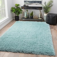 Orion Solid Blue Area Rug (2' X 3')