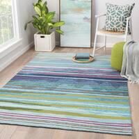 Minta Indoor/ Outdoor Stripe Multicolor Area Rug (2' X 3')