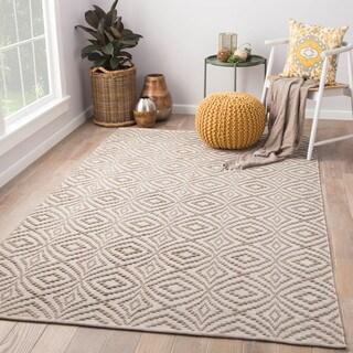"""Arbor Taupe/Cream Handmade Trellis Area Rug (8' X 11') - 7'10"""" x 10'10"""""""