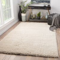 Juniper Home Cadence Solid Cream Area Rug - 8' x 11'