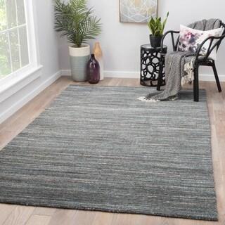 """Hadrian Dark Grey Wool Handmade Solid Area Rug (8' x 11') - 7'10"""" x 10'10"""""""