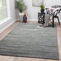 Hadrian Dark Grey Wool Handmade Solid Area Rug (8' x 11')
