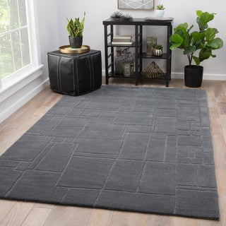 Juniper Ellington Grey Wool Handmade Abstract Area Rug (8' x 10')