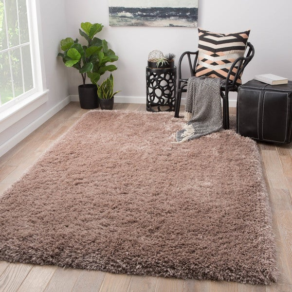 8 X 11 Area Rugs On Sale: Shop Orion Solid Taupe Shag Area Rug (8' X 11')