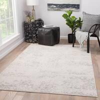 Juniper Home Cheyenne Grey/White Abstract Area Rug (7'6 x 9'6)