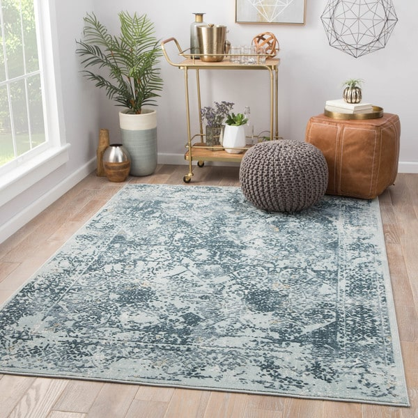 Maison Rouge Francis Blue/Teal Abstract Area Rug (7'6 x 9'6)
