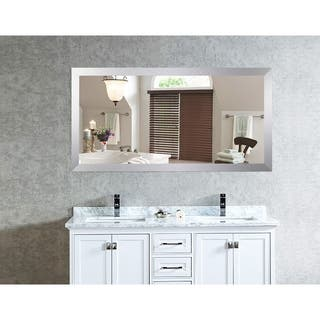 US Made Elemental Jaded Platinum Framed Double Vanity Mirror - Silver|https://ak1.ostkcdn.com/images/products/18193514/P24337907.jpg?impolicy=medium