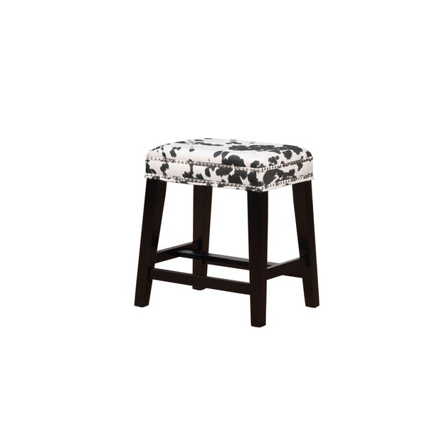 Ian Black Cow Print Counter Stool. Opens flyout.