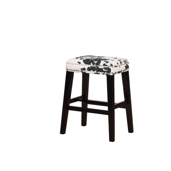 Pleasing Ian Black Cow Print Bar Stool Dailytribune Chair Design For Home Dailytribuneorg