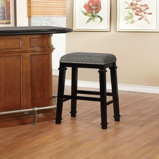 Link to Mayfair Black and White Tweed Backless Bar Stool Similar Items in Dining Room & Bar Furniture