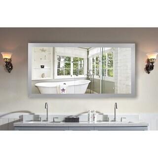 Rayne Mirrors Elemental Jaded Silver Platinum-framed Double Vanity Mirror