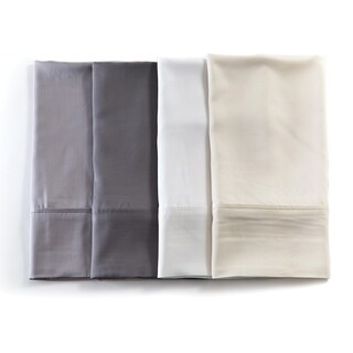 Rayon from Bamboo White King Pillowcases (Pair)