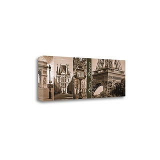 'A Glimpse Of Paris' by Jeff Maihara Gallery Wrap Canvas Art
